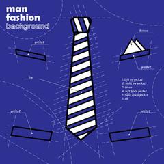 Suit design vector background silhouette in blueprint concept