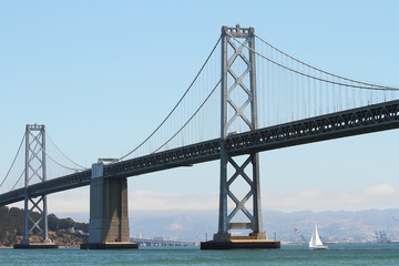 Oakland Bay Bridge between San Francisco and Oakland California