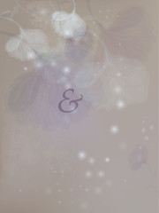Wedding card / Floral romantic background to next customize