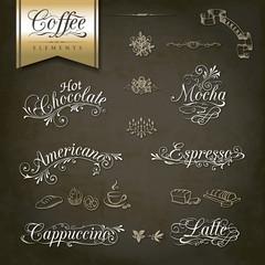 Vintage style Coffe menu designs