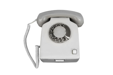 Old phone isolate on white background