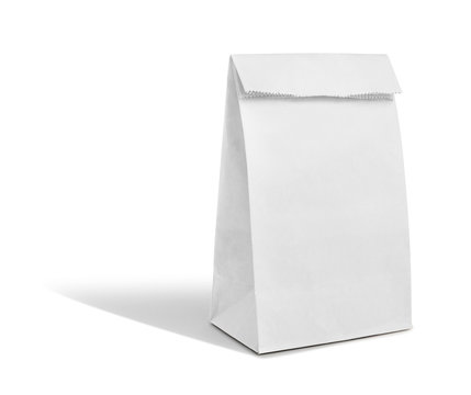 recyle white paper bag
