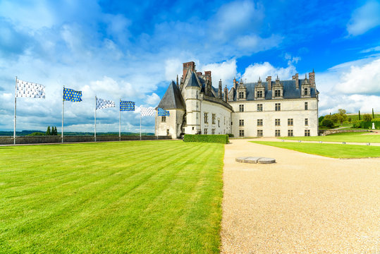 Chateau de Amboise medieval castle, Leonard tomb. Loire, France