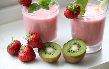 Fresh vivid smoothie