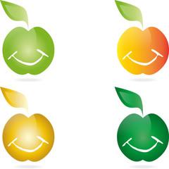 Äpfel, Lächeln, Essen, apple smiley