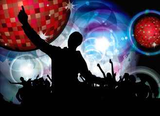 Clubbing. Music event poster