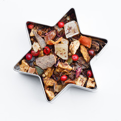Christmas tea in star shape box
