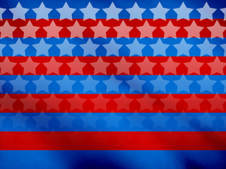 Graphic Design (Vintage Background) - Made In USA - Flag Element