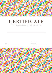 Colorful Certificate / Diploma template. Background design