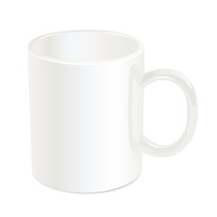 White cup. Vector