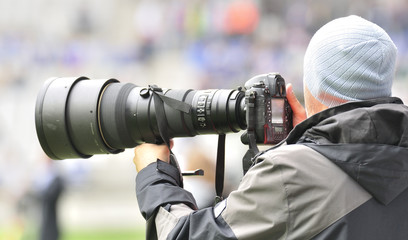 Fotógrafo deportivo.