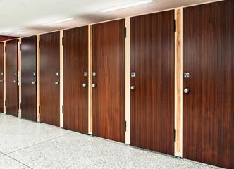 Many toilet doors