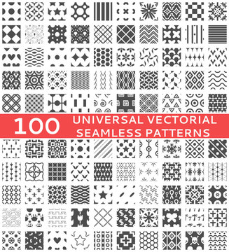 Universal different vector seamless patterns (tiling)