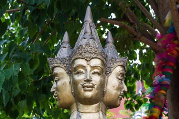 Statue of head Brahma