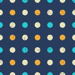Fototapete - Seamless Polka Dot Pattern