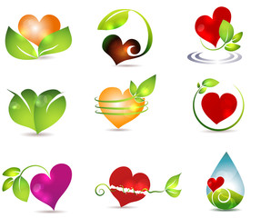 Heart and nature symbols Nature healing power