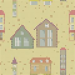 geometrical city seamless pattern