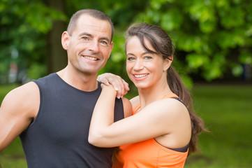 Happy sport couple