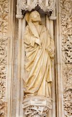 Toledo - Saint John statue from  Monasterio San Juan