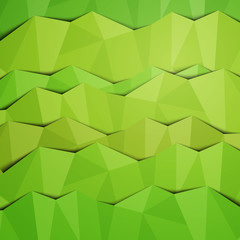 Vector Illustration of an Abstract Green Background