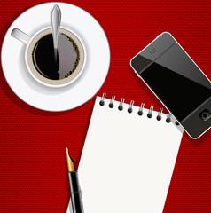 Journaliste - écrivain - carnet - bloc notes - message - interview