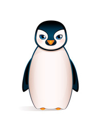 Cute penguin isolated on white