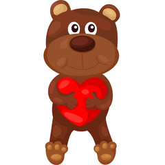 cartoon bear with heart