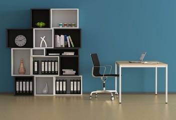 Blaues Büro