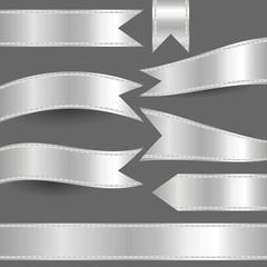 set of silver ribbons