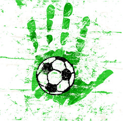 soccer / football design, grungy, vector