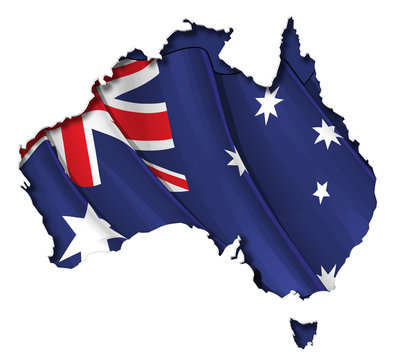 Australian Map-Flag