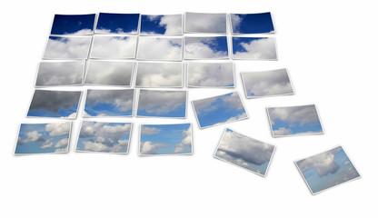Wolkenbild Collage
