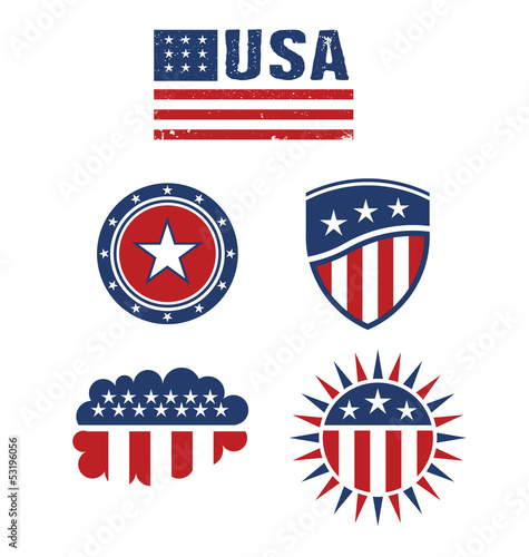 Quot Usa Star Flag Design Elements Vector Quot Stock Image And