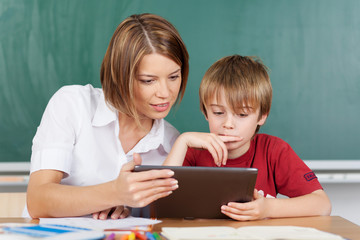 Teaching with tablet