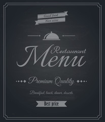 Restaurant menu-Chalkboard design. Vector