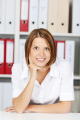 Portrait of smiling woman in the office