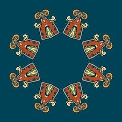 Circular ornament vector design