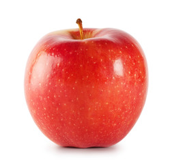 Bright shiny red apple