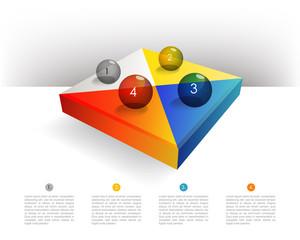 Pie chart diagram. Infographics