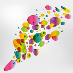 Colorfull circle background. Bubble vector.