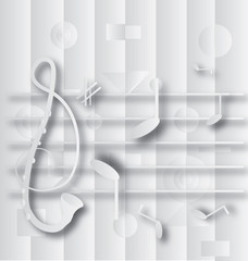 Abstract G clef and notation
