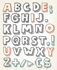 Hand Drawn ABC Elements