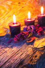 candles - oil paint