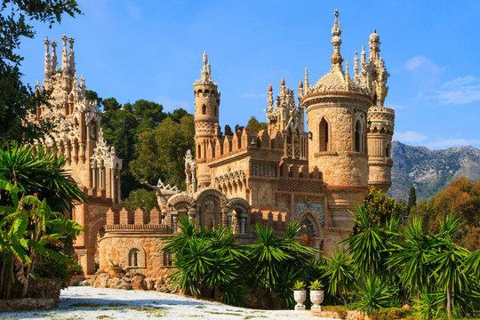 Colomares castle in Benalmadena, Spain