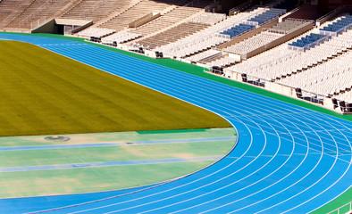 stadium. Running track..