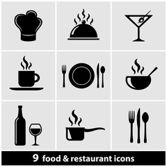 Food & Restaurant Icon Set