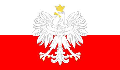godło polski i flaga