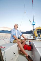 Printed roller blinds Water Motor sports sunrise sailor