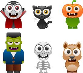 halloween characters set 2