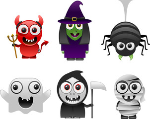 halloween characters set 1